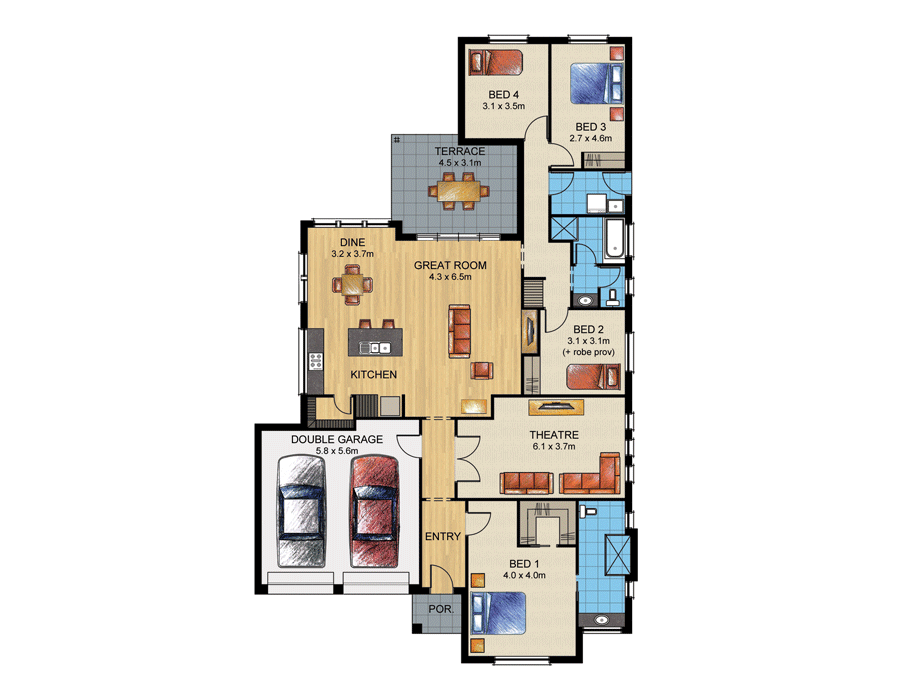 FLOORPLAN. HOME SPECIFICATIONS