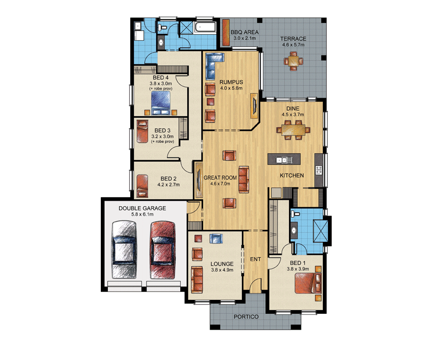 Superbe FLOORPLAN. HOME SPECIFICATIONS