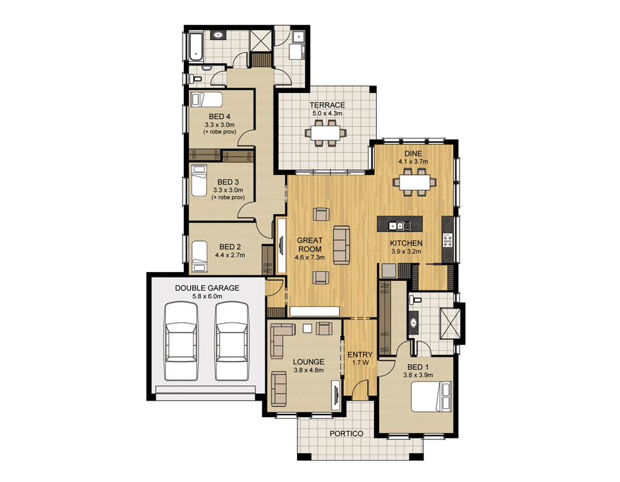 Wonderful FLOORPLAN. HOME SPECIFICATIONS
